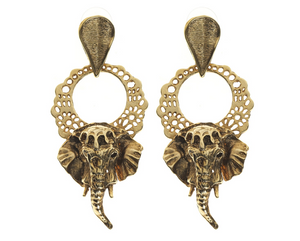 Elephant Drop Earrings