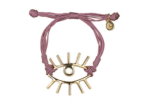 Gold Plated Color Evil Eye Bracelet