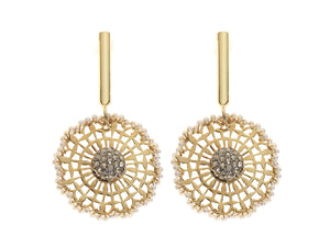 Circular Filigran Net Earrings