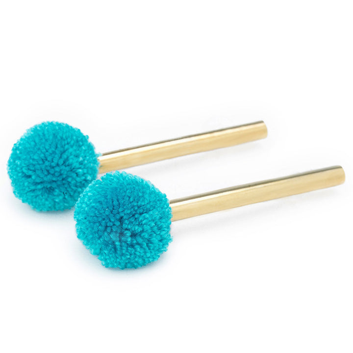 gold-plated-turquoise-pompom-earrings