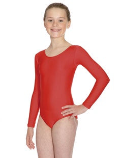Long sleeved Leotard with scoop Neck