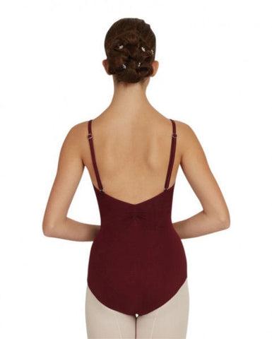 Adjustable strap camisole leotard