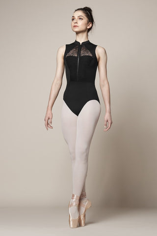 Zip Front High Neck Leotard