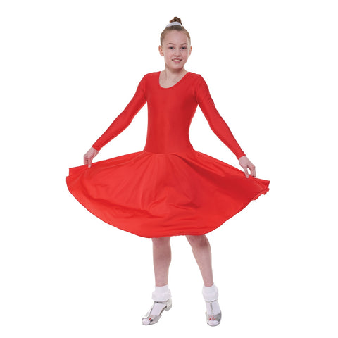 Long Sleeved Ballroom Dress child