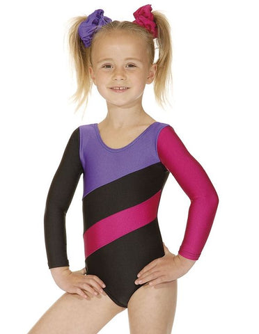 Long sleeved 3-tone Gym Leotard