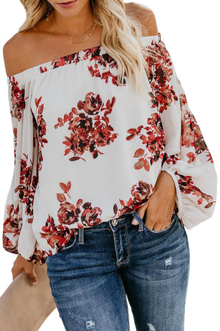 White Wherever You Go Off The Shoulder Top