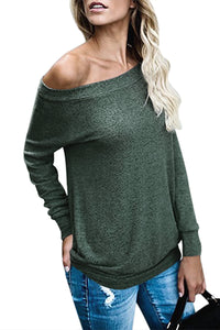 Green Women's Off Shoulder Tunic Top