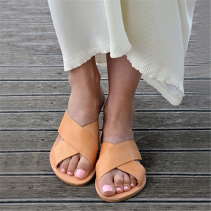 Casual Flat   Bottom Versatile Openwork Slippers