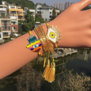 Exquisite Hand-Woven Bohemian Beaded Bracelet Set