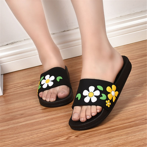 Flower Non-Slip   Home Flat Slippers