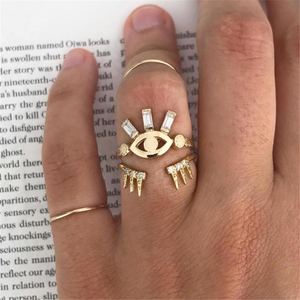 Fashion   Eye Shape Ring Combination