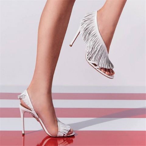 Fashion Wild   Tassel High Heel Sandals
