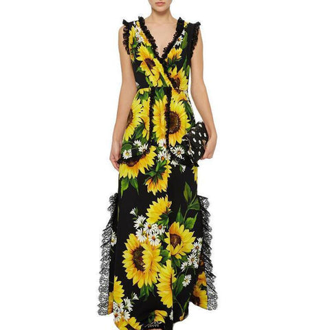 POPHERS Sunflower Printed Jumpsuit