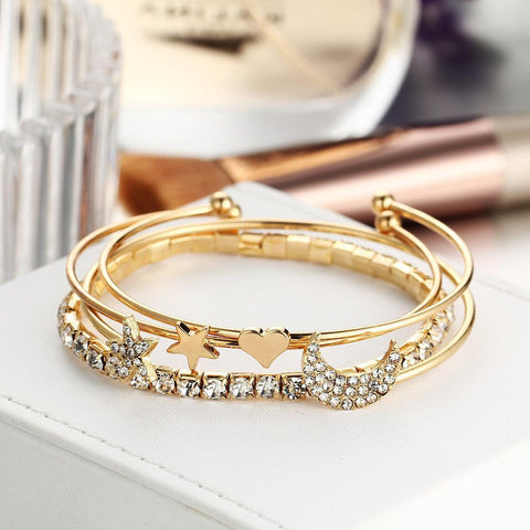 Fashion Star Moon Opening Bracelet