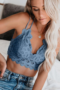 POPHERS Blue Crush On You Lace Bralette