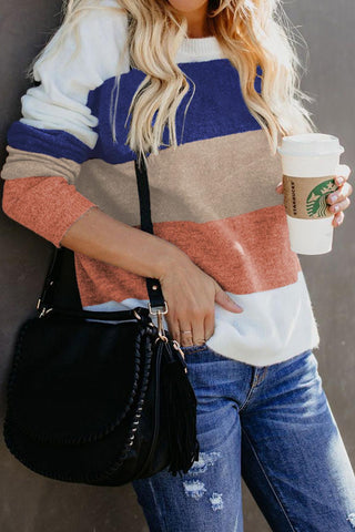 Blue Catch Feels Colorblock Sweater