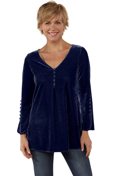 Blue La Vie Velvet Top