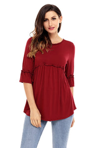 Claret Babydoll Long Tunic Top