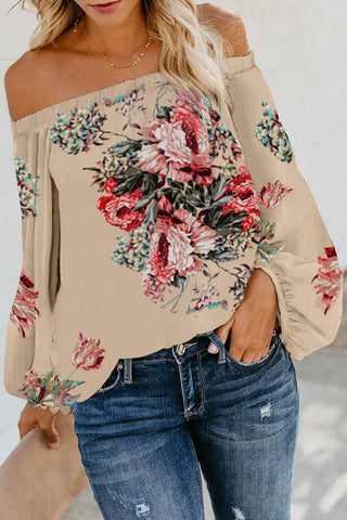 POPHERS Apricot Wherever You Go Off The Shoulder Top