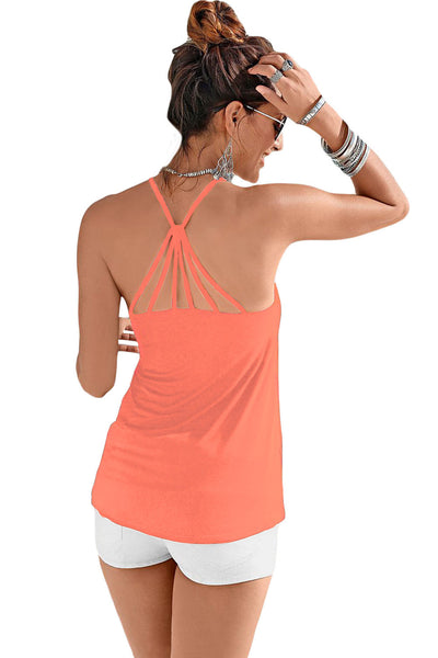 Pink Strappy Back Detail Summer Top