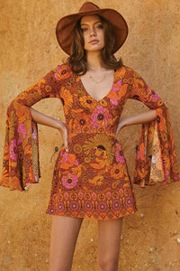 POPHERS Orange Jupiter Dress