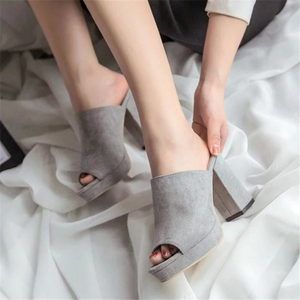Simple and versatile high-heeled slippers
