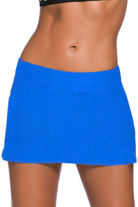 Plus Size Blue Skirted Swim Bikini Bottom