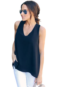 Black Sexy Summer Essential Tank Top