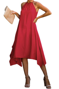 Red Ring The Alarm Luxe Midi Dress