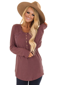Dusty Pink Crochet Detail Thermal