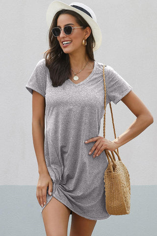 POPHERS Gray The Triblend Side Knot Dress