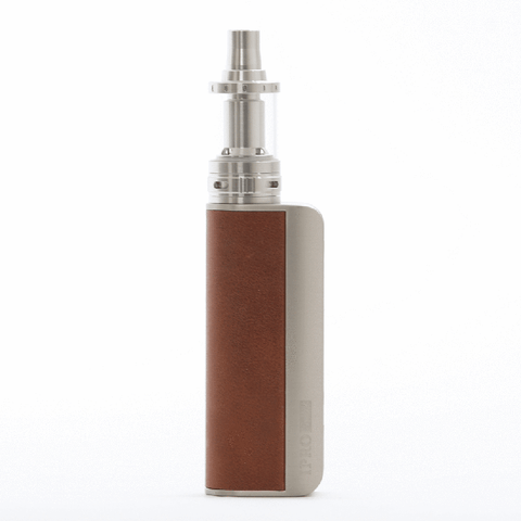 80W Box Mod 18650 Battery in Light Brown for CBD Oils E-liquid