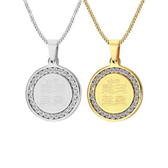 4 Qul Pendant Necklace Gift Hajj Umrah in Gold and Silver Color from Almas Collections