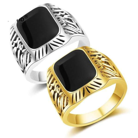 Allah Retro Ring sizes 8-10 Ancient Gold and Ancient Silver Rings from Almas Collections