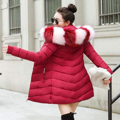 Almas Long Slim Hooded Faux fur Parka Women Winter Jacket from Almas Collections