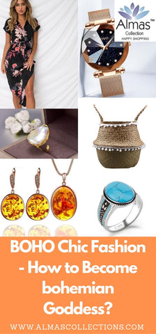 BOHO Chic Fashion - How to Become bohemian Goddess? from Almas Collections