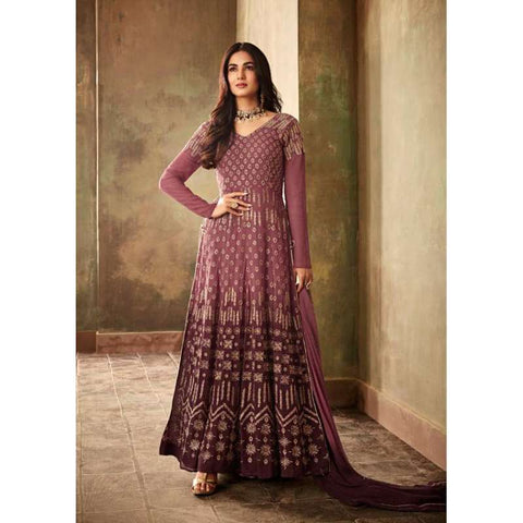BURGUNDY INDIAN PARTY ANARKALI GOWN 2019