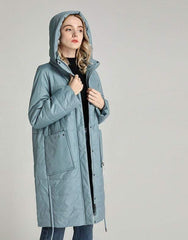 Long Parka Padded Hooded Jacket from Almas Collections