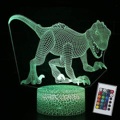 New 7 Colour 3D Illusion Dino Night Light from Almas Collections