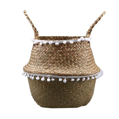 New Eco-Friendly Wicker Rattan Flower Planter Basket Natural color from Almas Collections