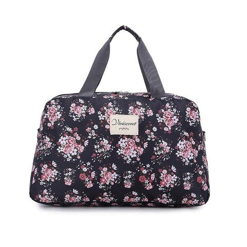 New Floral Duffel Totes Sport & Yoga Bag in Black color form Almas Collections