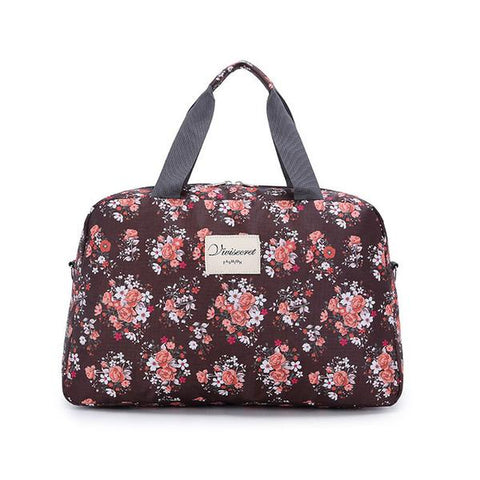 New Floral Duffel Totes Sport & Yoga Bag in Brown color form Almas Collections