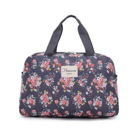 New Floral Duffel Totes Sport & Yoga Bag in Gray color form Almas Collections