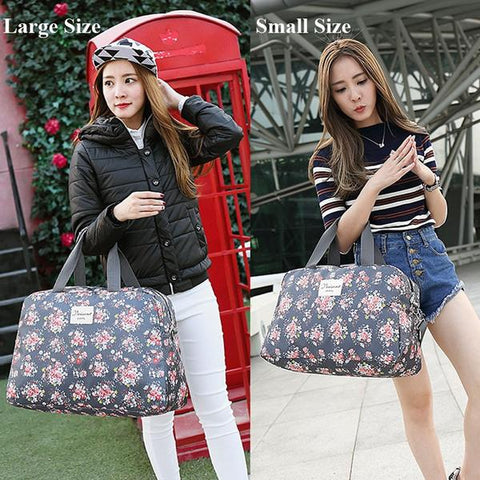 New Floral Duffel Totes Sport & Yoga Bag in 2 different sizes Small & Large from Almas Collections