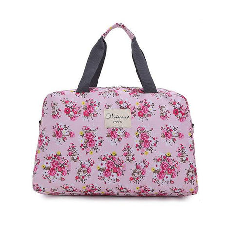 New Floral Duffel Totes Sport & Yoga Bag in Rose color form Almas Collections