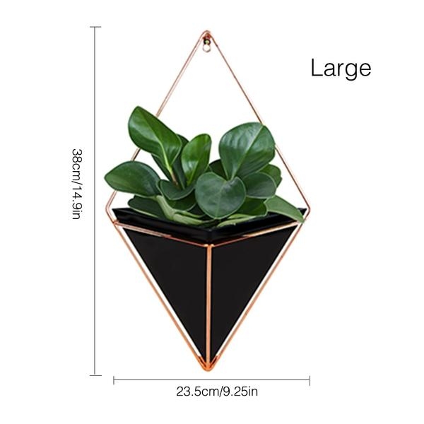New Hanging Geometric Plant Decor on display from Almas Collections