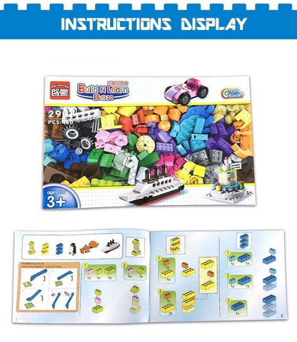 New Lego  460pcs Blocks Bricks instructions book from Almas Collections