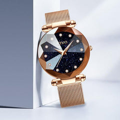 New Luxury Crystal Rose Gold & Purple Women Bracelet Watches from Almas Collections