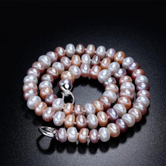 New Natural Freshwater Pearl Necklace AAAA close up from Almas Collections