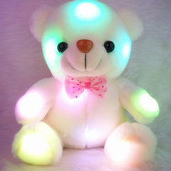 Soft Plush Rainbow Glowing Teddy Bear from Almas Collections